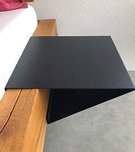Main Möbel Nachttisch 30x13cm 'Theresa' Metall schwarz