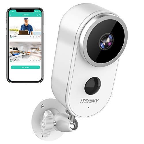 IP Kamera Outdoor, ITSHINY Überwachungskamera Aussen WLAN, HD 1080P Überwachungskamera Aussen Kabellos PIR Bewegungserkennung IP67 wetterfest Nachtsicht Kompatibel mit IOS/Android
