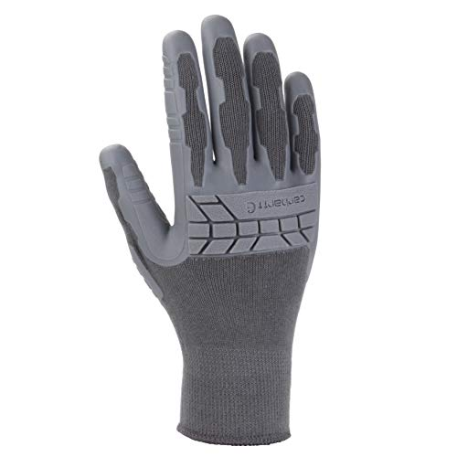 Carhartt Women's Knuckler Work Glove with Grip and Knuckle Protection, Grey, Medium