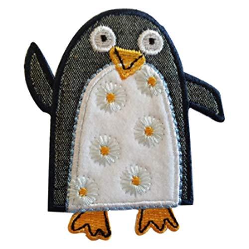 TrickyBoo 2 opstrijkbare pinguïn 7 x 8 cm hart rond 7 x 7 cm set patch applicaties voor het repareren van kinderkleding met design Zürich Zwitserland voor Duitsland en Oostenrijk