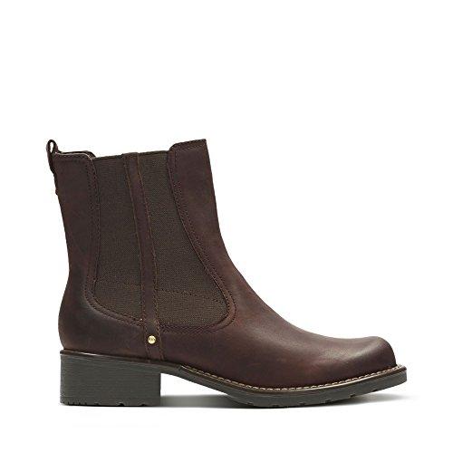 Clarks Orinoco Club, Damen Halbschaft Stiefel, Braun (Burgundy Leather), 36 EU