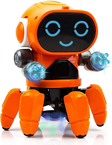 Galaxy Hi-Tech® Pioneer Bot Robot Colorful Lights and Music   All Direction Movement Dancing Robot Toys for Boys and Girls Multi-Colour