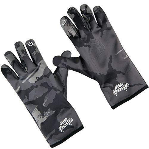 Fox Rage Thermal Camo Gloves - Thermohandschuhe für Angler, Angelhandschuhe für Raubfischangler, Handschuhe zum Angeln, Größe:M