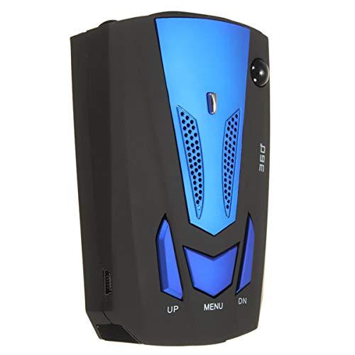 IENPAJNEPQN Prueba de la cámara del Coche Azul V7 360 ° Sistema de Radar Cobra 16 Banda 360 ° Laser Detector de alertas de Voz