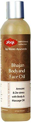Yogi Bath and Beauty Authentic Ayurveda Bhajan Body & Face Oil, 8.75 Ounce