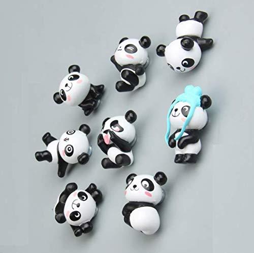 Gwill Juego de 8 imanes para nevera, diseño de panda divertido para nevera, juguete para nevera, soporte para mensajes, decoración del hogar