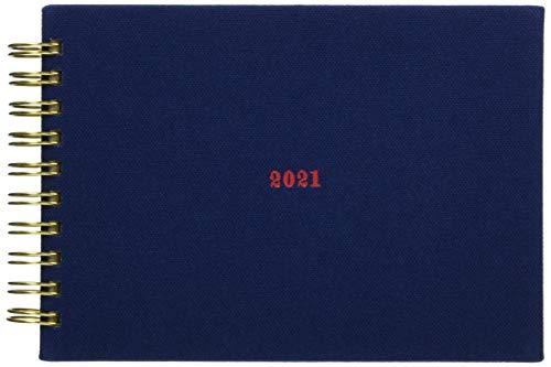 ラボクリップ 手帳 2021年 A6 ウィークリー スケッチ 帆布 ネイビー 2112R01-NV (2020年 12月始まり)