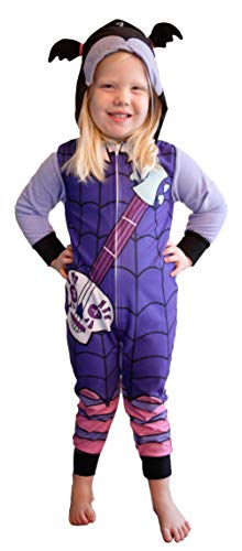 Disney Vampirina Costume One Piece Pajama Union Suit (Girls Size 6) Purple