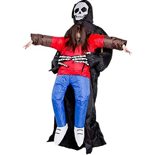 GBYAY Disfraz de Terror de Halloween Fantasma Inflable con Ropa Modelo Decoración del hogar Ropa Inflable Accesorios