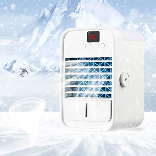Mini acondicionador de aire, refrigerador de aire pequeño de bajo nivel USB, enfriador de aire portátil de siete colores, ventilador de aire acondicionado de escritorio, para el hogar y la oficina