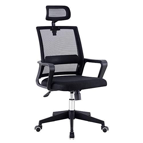 Bürostuhl mit verstellbaren Armlehnen, ergonomischer Arbeitsstuhl, kompakte 120° Verriegelung, 360° drehbarer Sitz