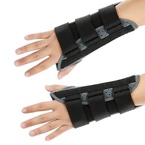 DTTKKUE Einstellbare, Atmungsaktive Handgelenkschiene, Handgelenkstütze, Karpaltunnelschiene, Lindert Schmerzen Am Handgelenk, Verstauchungen, Sehnenentzündung, Arthritis (Links Rechts),Right,L