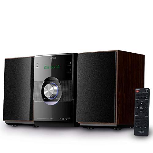 HAISER HSR 116 | 20 watt RMS met • CD-speler • Bluetooth • USB • boxen • FM-radio | stereo-installatie compacte installatie muziekinstallatie mini-installatie microinstallatie mini stereo-installatie geluidsinstallatie