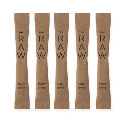 SUGART - THE RAW SUGAR - 500 Individual Serving Stick Packets - U Parve/Kosher