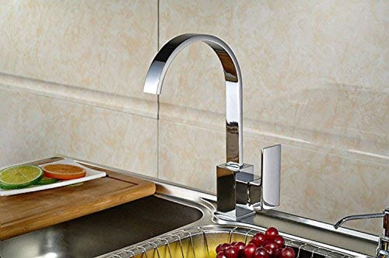 Kitchen Bath Basin Sink Mixer tap Faucet Kitchen Sink tap Cold and hot Handle Mixer taps (color   -, Size   -)