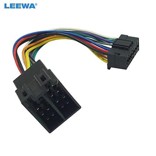 Davitu - Adaptador de cable de radio estéreo para Sony de 16 pines en radio a conector ISO 10487 en coche #CA5675