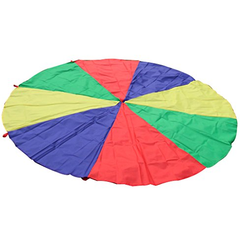 Large Kids Children Play Rainbow Parachute Garden Outdoor Game Family Group...