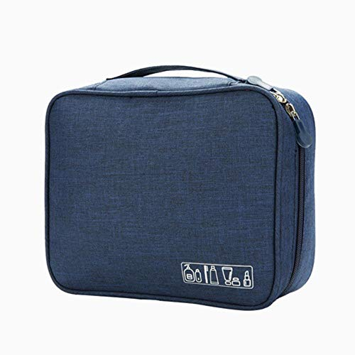 IONE Portable Fashion Cosmetic Bag Cosmetic Case Beauty Cosmetic Bag Travel Essential Accessories, Navy Blue
