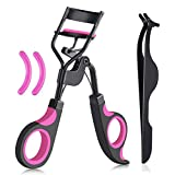 Eyelash Curler Kit Beauty Makeup Tools,With 2 Styles Eyelash Curlers And 2 Silicone Replacement Pads And 1 Eyelash Extension Tweezers, for Eyelashes Curling Natural and Long Lasting (Eyelash Curlers)