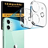 [ 2 Pack] UniqueMe Camera Lens Protector for iPhone 11 Tempered Glass, [New Version] Add Cameras Flash Circle