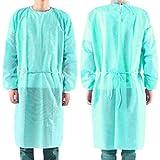 20Pack Einweg-Isolieranzug, nicht gewebte OP-Gewand Krankenschwester Uniform Arbeitskleidung mit Einweghandschuh von 20PCS
