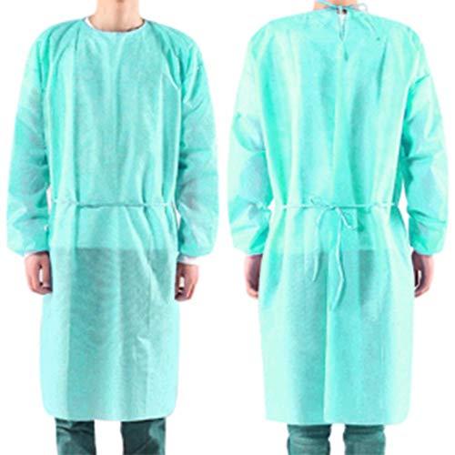 50Pack Einweg-Schutzanzug für OP-Kleider, Krankenschwester-Uniform-Arbeitskleidung, mit 50PCS-Einweghandschuh
