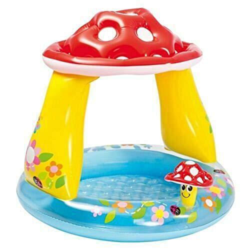 NoNo Pilz-Baby-Pool 102 cm x 89 cm, freundlicher Dschungel-Spielpool für Alter 1-5