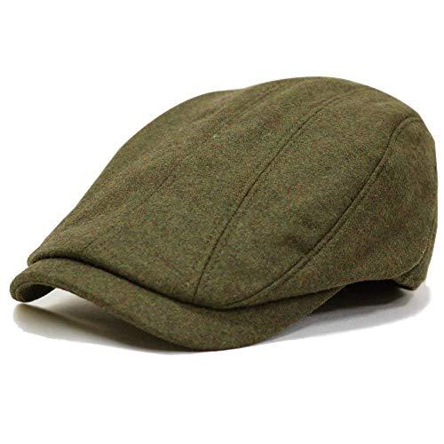 帽子 メンズ ハンチング 秋・冬 ハンチングウールプレーン (カーキ)