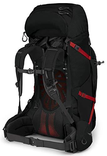 Osprey Aether Plus 70 Men's Backpacking Backpack, Black, Large/X-Large
