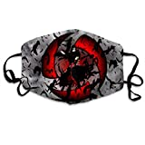 Funny Print Na-ru-to U-chi-ha It-ac-hi Pattern Breathable Mouth Masks, Anime Halloween Cosplay Hip Hop Dust Face Masks, Washable And Reusable Windproof Cartoon Animal Masks
