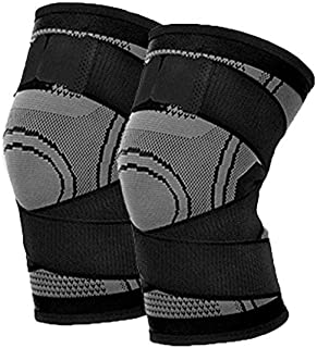 Bandage Kneepad Leiwenkai 1PCS Professional Knee Brace Support Breathable Knee Support Pad Bandage Knee Protective Pad Basketball Tennis Sports Cycling
