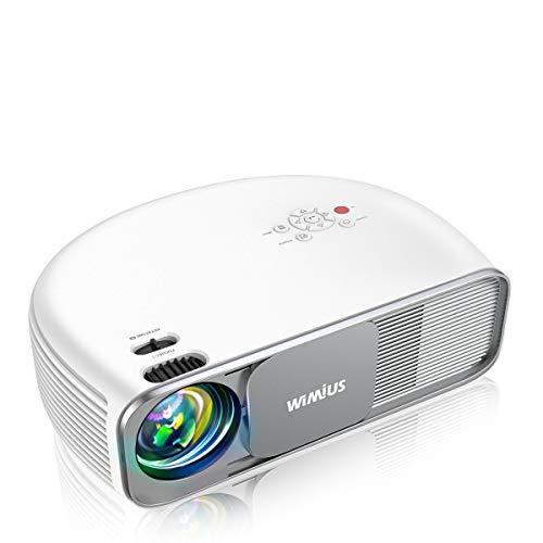 WiMiUS プロジェクター 8000ルーメン Bluetooth機能搭載 リアル1080P解像度 4K対応 台形補正 ズーム機能 USB HDMI AV VGA対応 SWITCH パソコン IOS Android DVDなど接続可能