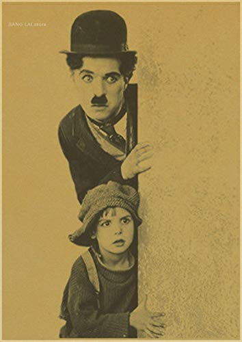 binghongcha Print On Canvas Vintage Poster Chaplin Comedies Don'T Blindly Follow Retro Font Ornament, Hollywood Movie Poster Z-324 (50X70Cm) Without Farme