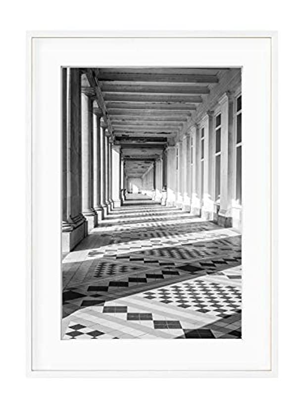 Galerie Parisienne Solid Oak Natural Frame with Mount, Multicolored, 30x40