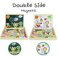 Puzzle Magnetico Legno Lavagna Magnetica Doppio Lato Puzzle di Legno Giochi Educativi per Bambini 3 4 5 Anni #2