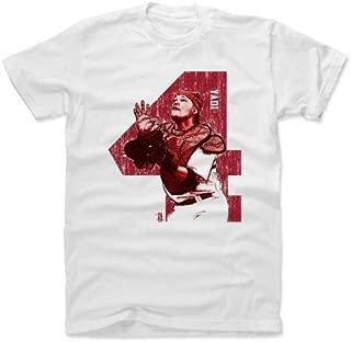 メジャーリーグ セントルイス・カージナルス ヤディエル・モリーナ 500Level Player Art Cotton T-Shirt (ホワイト)