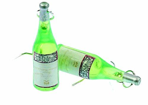botellas de vino botellas de vino Miniblings pendientes percha luz verde vino blanco - joyería hecha a mano de plata de la manera Pendientes plateado I