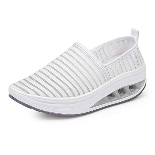 Zapatillas de Deporte Elegantes con Estampado de Flores de Rayas de Camuflaje para Mujer Suela de Goma Zapatos Antideslizantes para Caminar