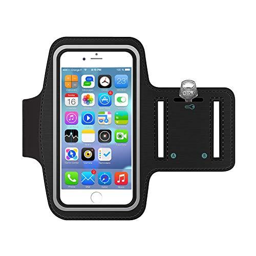 Sportarmband Hülle, Armtasche Hülle Oberarmtasche mit Schlüsselhalter, Kabelfach, Anti Rutsch Fitness Armband Handy-Lauf-Tasche Running-Case für iPhone 6 plus/ 7plus, Samsung Galaxy S7/ S6/ S5, 5.5