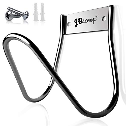 Stainless Steel Hose Holder Wall Mount Garden Hose Hook, Ideal for Water, Air, Hydraulic Hose, Ropes, Extension Cords Heavy Duty & Rust Proof, Size:6.3x7x6.3 In