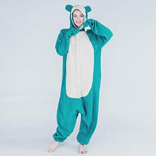 MA Pijama Pijamas Snorlax Kigurumi Animal Onesies para Adultos Body de Dibujos Animados Mujeres Cosplay Disfraz de Halloween XL 178-190CM-Snorlax_S