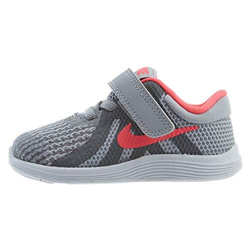 Nike Revolution 4 (TDV), Chaussures de Running Compétition Garçon Unisex Kinder, Multicolore (Wolf Grey/Racer Pink-Cool Grey-White 003), 26 EU
