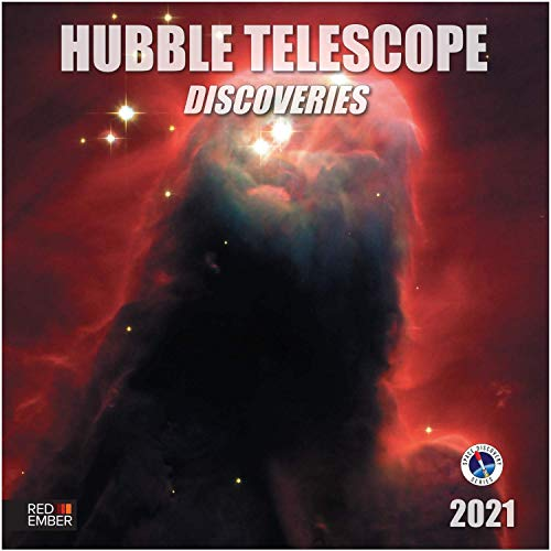 "Hubble Telescope Discoveries - 2021 Wall Calendars by Red Ember Press - 12"" x 24"" When Open - Thick & Sturdy Paper - Expand your World & your Mind"