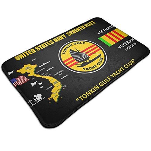 shenhaimojing 40X60CM,Innen/Außen Fußmatte,Küchentürmatte,Duschmatte,Teppich Fußmatte,Rutschfester Eingangsmatte,Veteran Der Us Navy Tonkin Gulf Yacht Club Vietnam