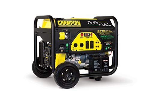 Champion 7500-Watt Dual Fuel Portable Generator with Electric Start (Renewed)