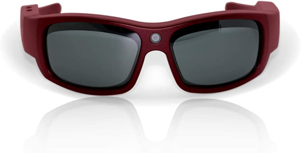 Govision Pro1 Ultra HD Video Camera Sunglasses | Water Resistant Sunglasses Camera | 15MP Camera Glasses | Wide Angle View, Unisex Design, Stylish, Water Resistant and Lightweight Frame | Maroon