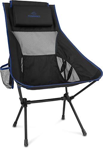 normani Outdoor Sports Ultraleicht Tragbar Klappbar Campingstuhl Klappstuhl Faltbar Outdoor-Stuhl mit Tragetasche Angelstuhl Strandstuhl aus Aluminium bis 150 kg belastbar Farbe Navy
