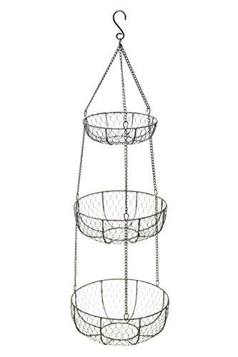 Kitchen Craft Draht-Hängekörbe, 3 Ebenen