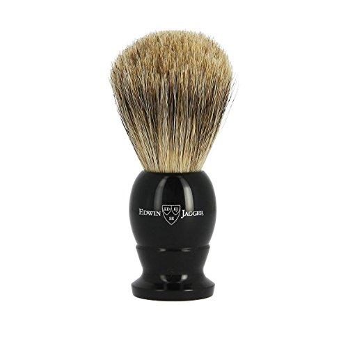 Edwin Jagger de tejón Best Badger con nudo de 21mm y mango de resina negra
