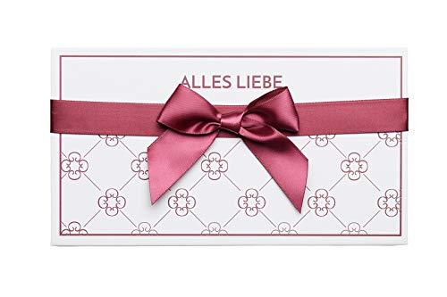 Geschenkbox für Gutschein Geschenkverpackung als Box zum Selbstausfüllen & Gutscheinkarte für Frauen & Männer   Bordeaux